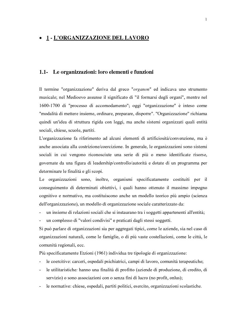 Anteprima della tesi: La gestione efficace della ricchezza ''risorse umane'' come fattore di sviluppo organizzativo e vantaggio competitivo: il contributo dell'intervento formativo, Pagina 5