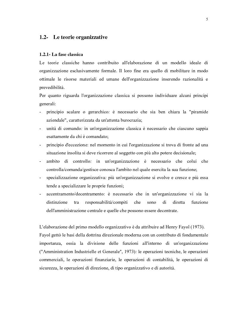 Anteprima della tesi: La gestione efficace della ricchezza ''risorse umane'' come fattore di sviluppo organizzativo e vantaggio competitivo: il contributo dell'intervento formativo, Pagina 9