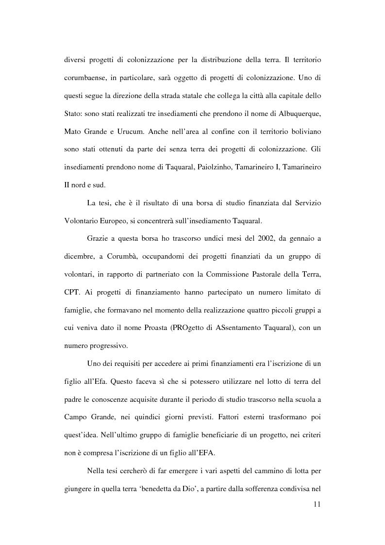 Anteprima della tesi: Terra: uno spazio di vita. Il caso di Corumbà, Pagina 9