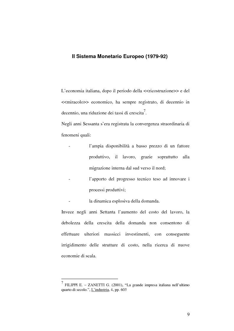 Anteprima della tesi: Il capitalismo italiano negli anni Novanta, Pagina 9