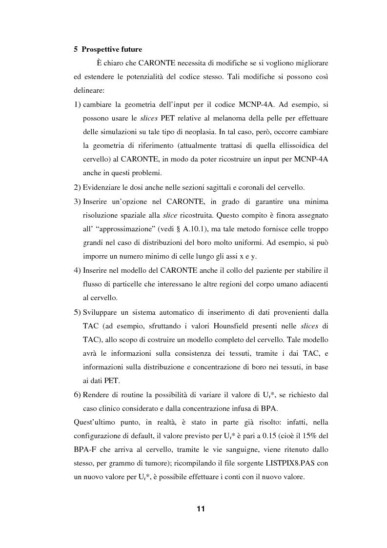Anteprima della tesi: Impiego del codice MCNP-4A nella BNCT (Boron Neutron Capture Therapy), con particolare riguardo allo sviluppo di un metodo originale per la valutazione della dose da cattura neutronica in base a dati PET, Pagina 11