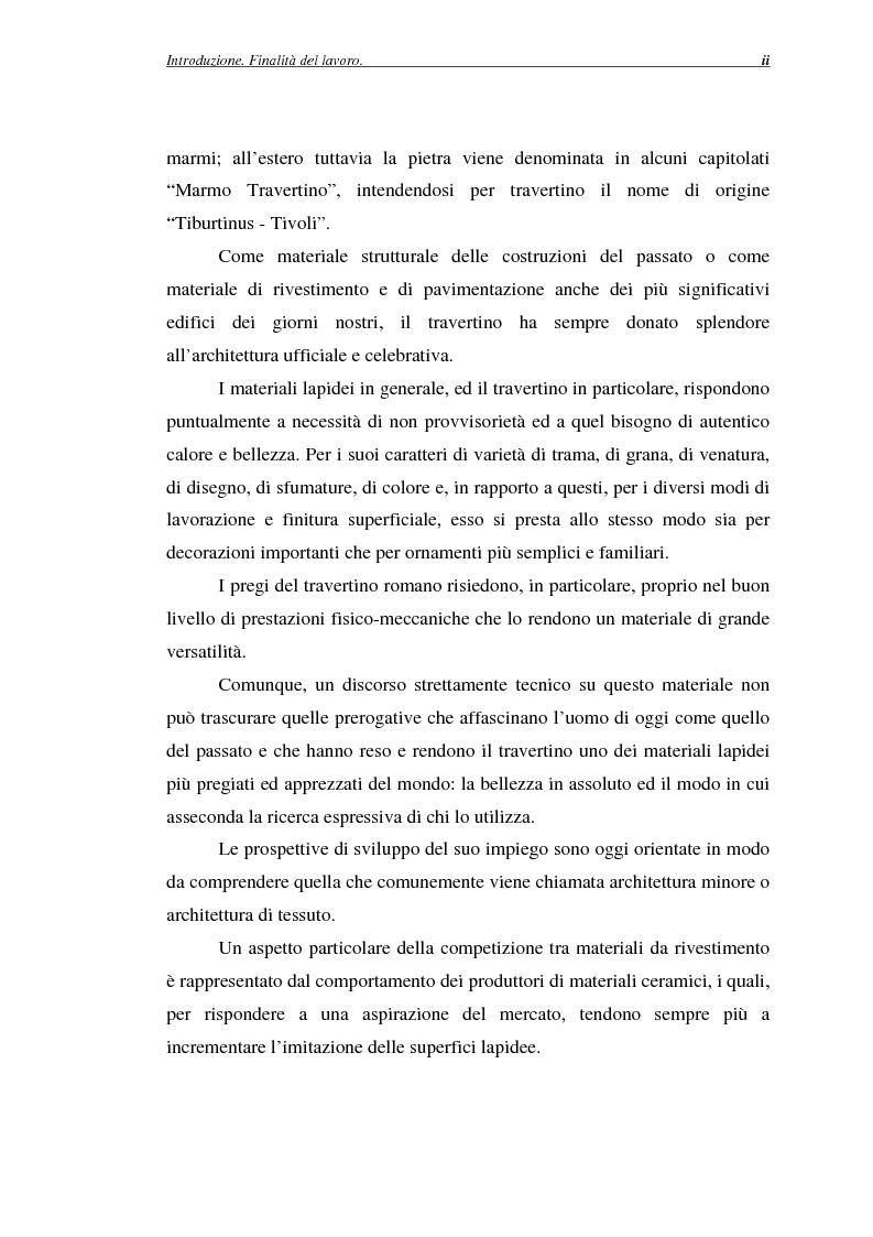 Anteprima della tesi: La certificazione di qualità del travertino romano, Pagina 2