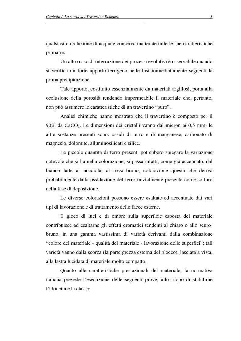 Anteprima della tesi: La certificazione di qualità del travertino romano, Pagina 6
