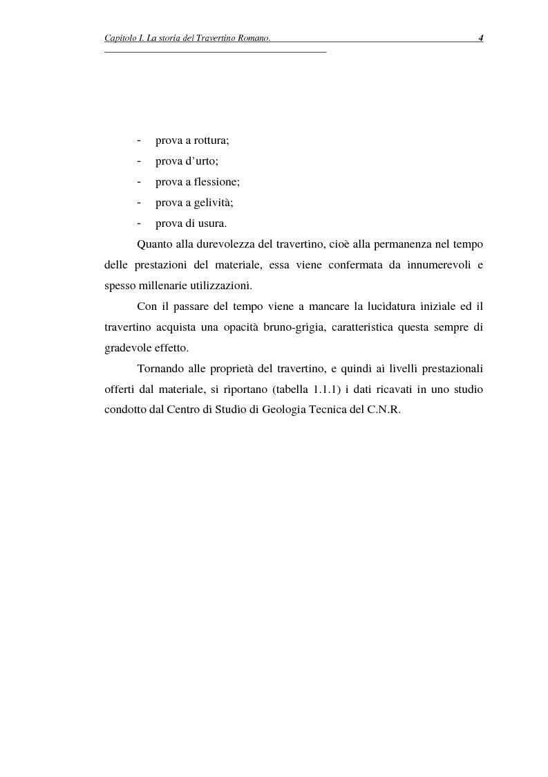 Anteprima della tesi: La certificazione di qualità del travertino romano, Pagina 7