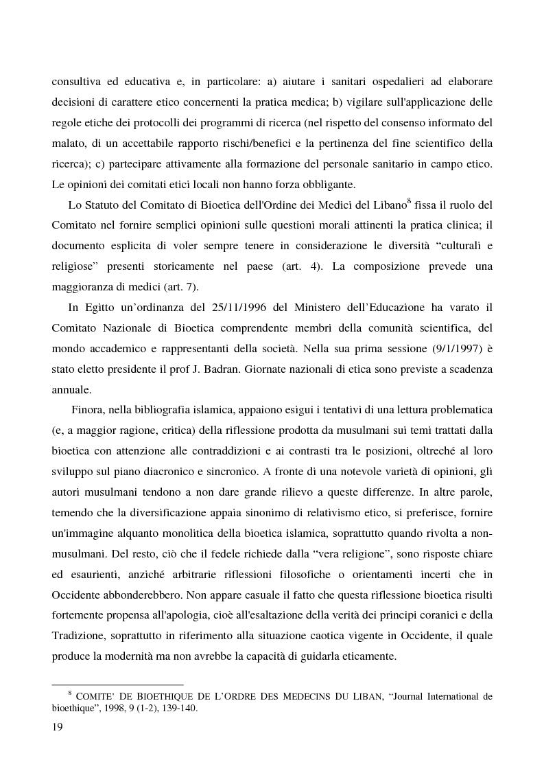 Anteprima della tesi: Bioetica e clonazione fra Islam e Cristianesimo, Pagina 13