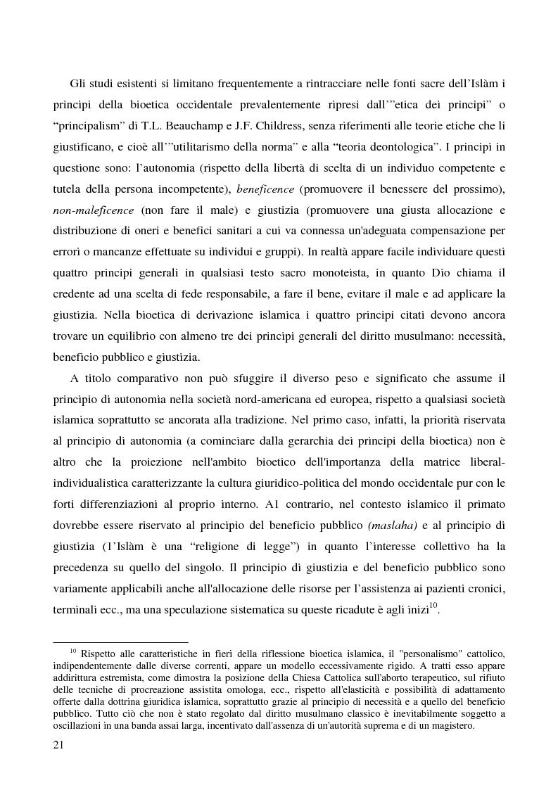 Anteprima della tesi: Bioetica e clonazione fra Islam e Cristianesimo, Pagina 15