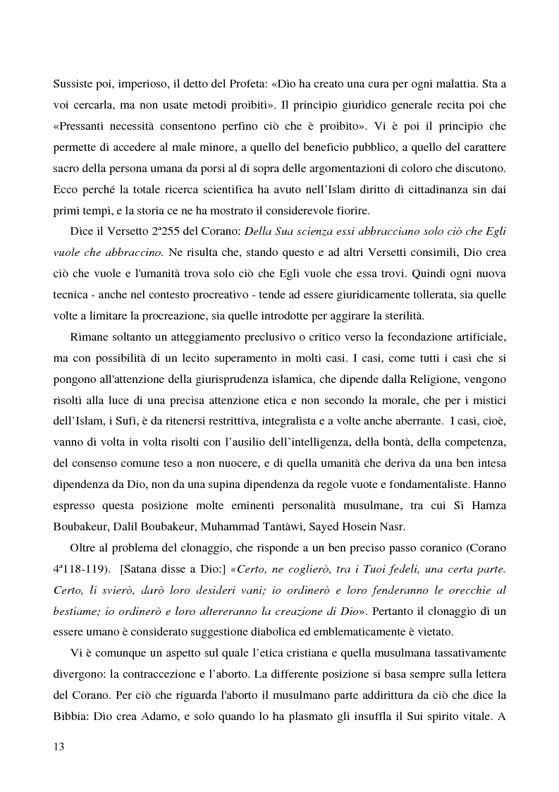 Anteprima della tesi: Bioetica e clonazione fra Islam e Cristianesimo, Pagina 7