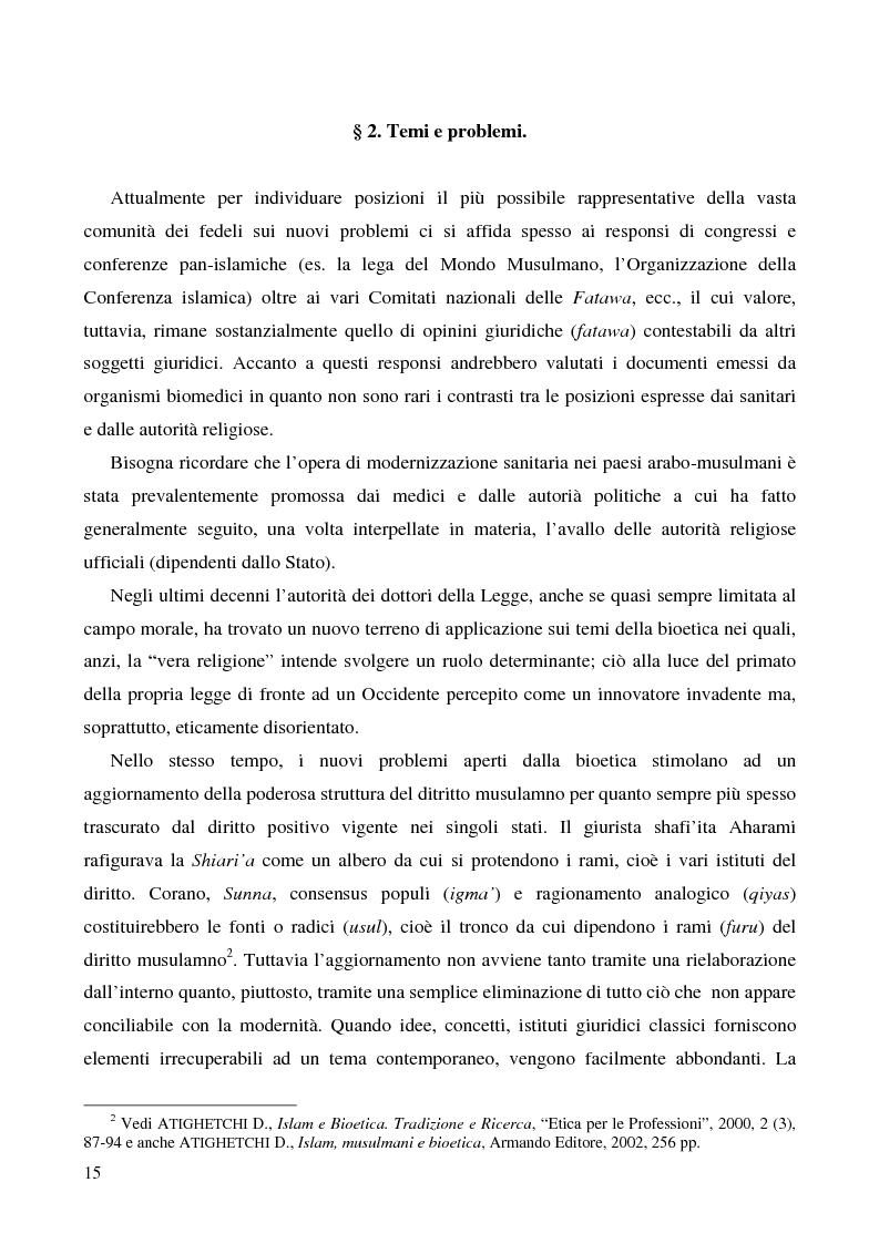 Anteprima della tesi: Bioetica e clonazione fra Islam e Cristianesimo, Pagina 9