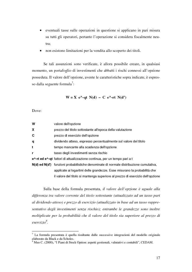 Anteprima della tesi: L'adozione dei piani di ''stock option'' in Italia, Pagina 11
