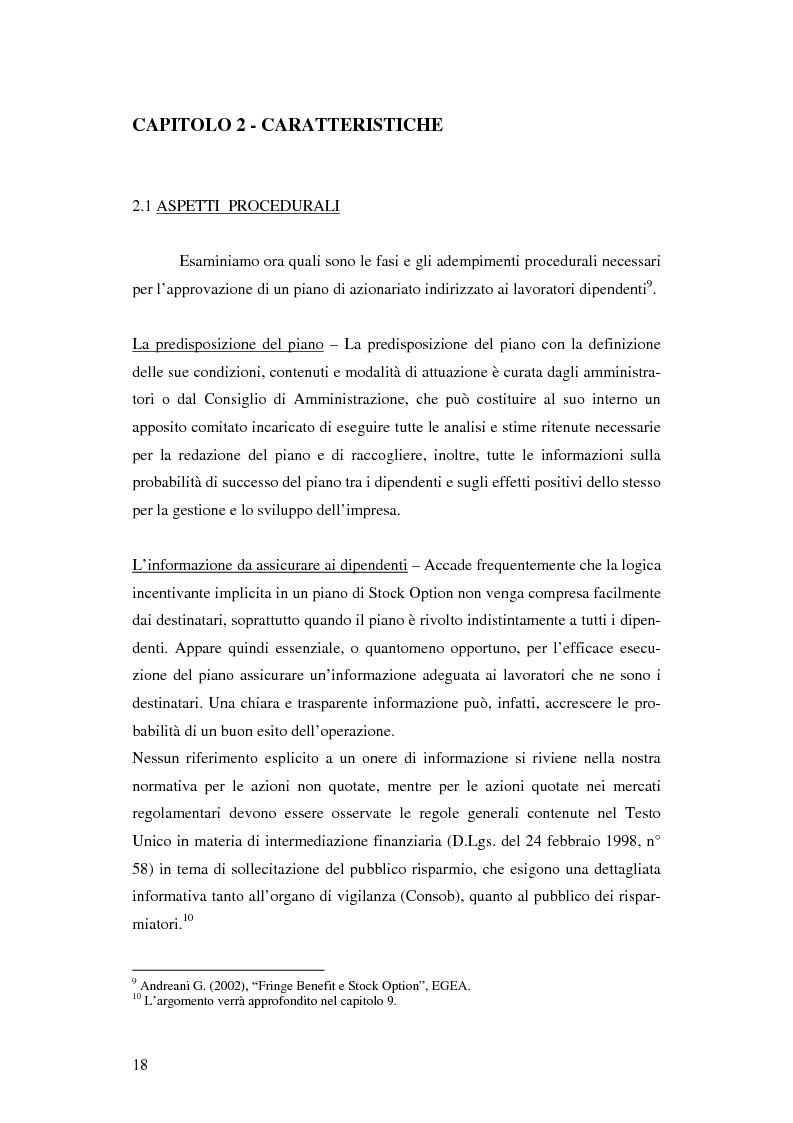 Anteprima della tesi: L'adozione dei piani di ''stock option'' in Italia, Pagina 12