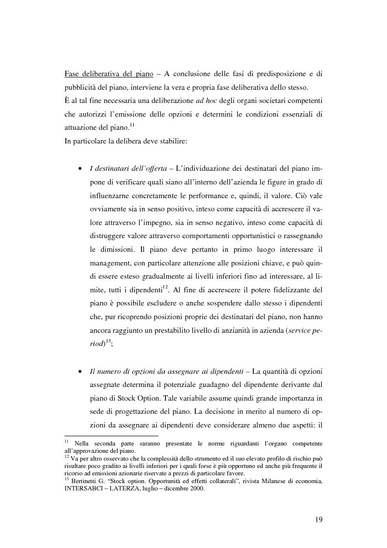 Anteprima della tesi: L'adozione dei piani di ''stock option'' in Italia, Pagina 13