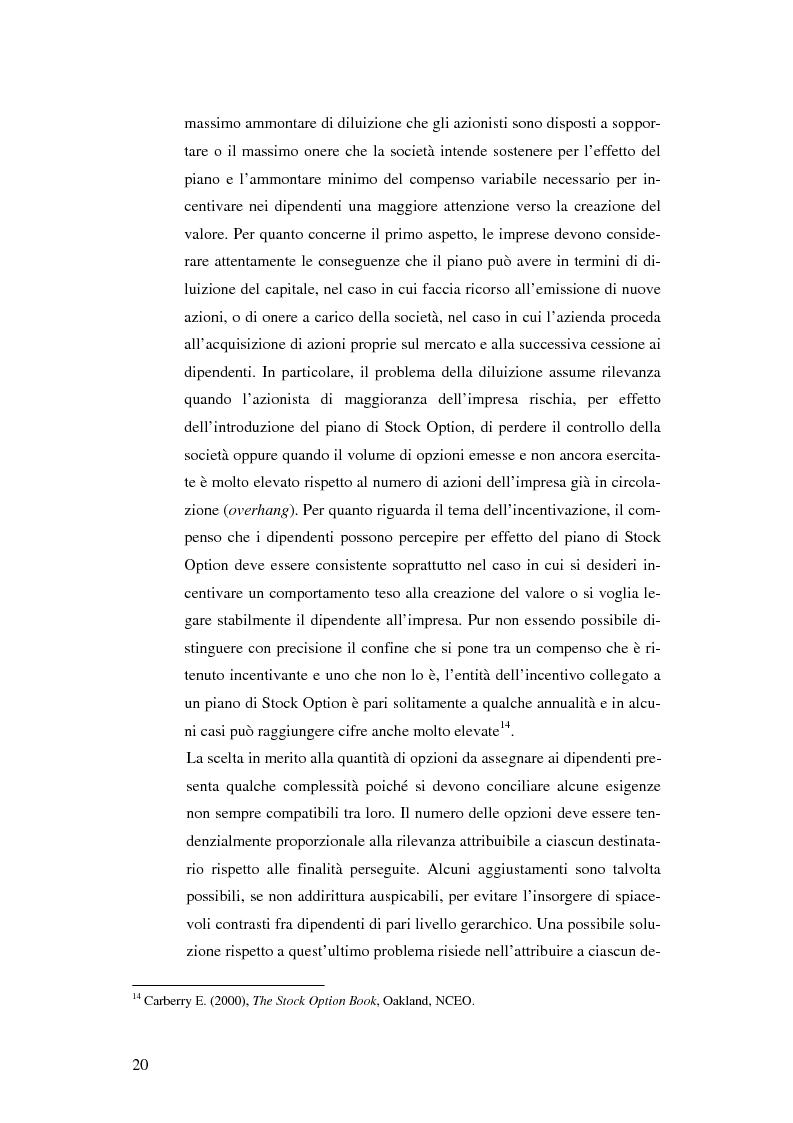 Anteprima della tesi: L'adozione dei piani di ''stock option'' in Italia, Pagina 14