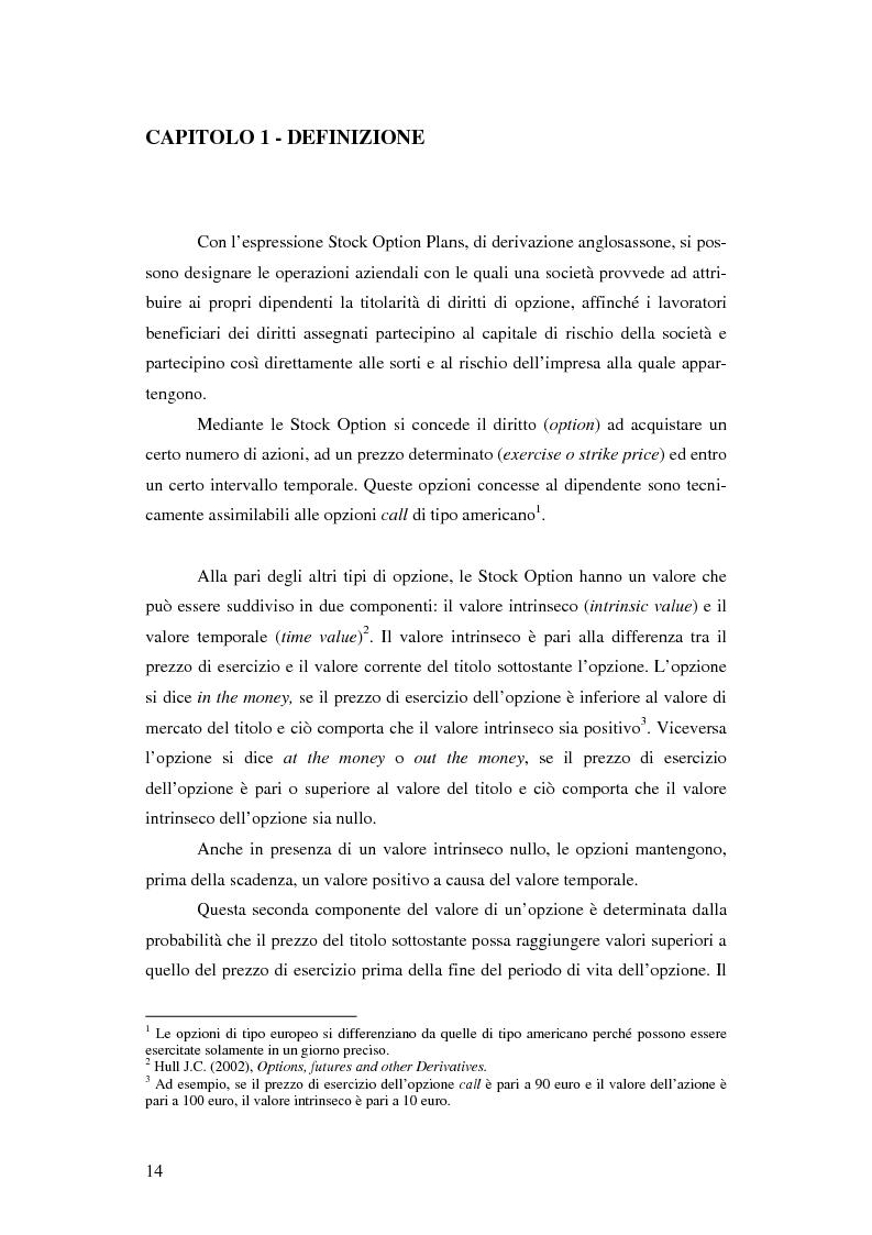 Anteprima della tesi: L'adozione dei piani di ''stock option'' in Italia, Pagina 8