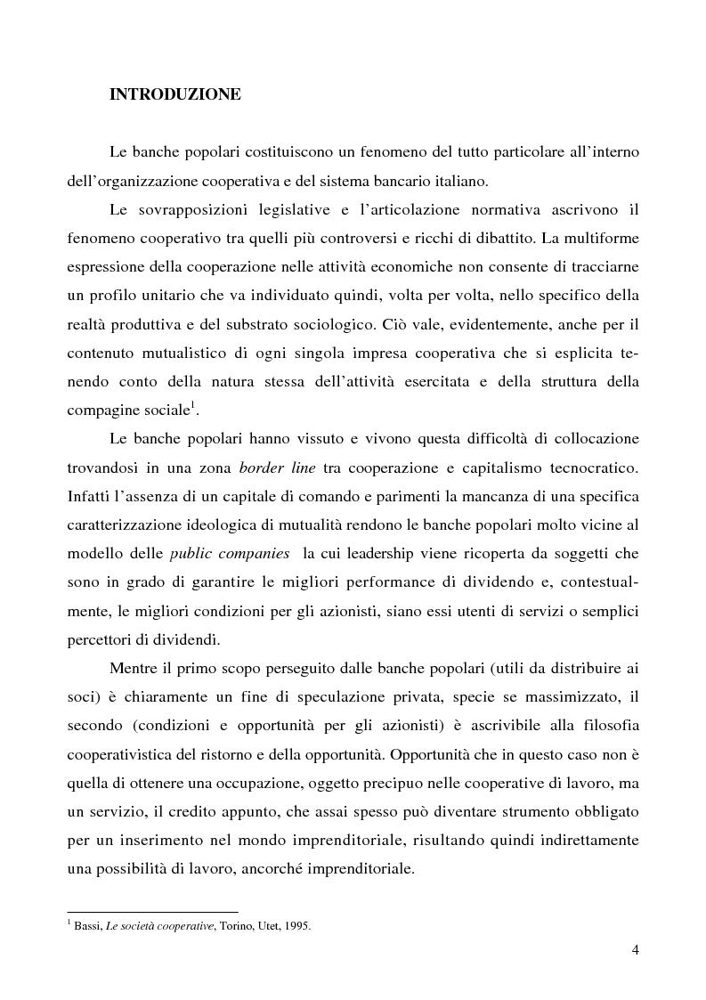 Anteprima della tesi: Problemi e prospettive della disciplina delle banche popolari, Pagina 1