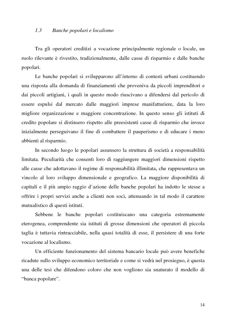 Anteprima della tesi: Problemi e prospettive della disciplina delle banche popolari, Pagina 11