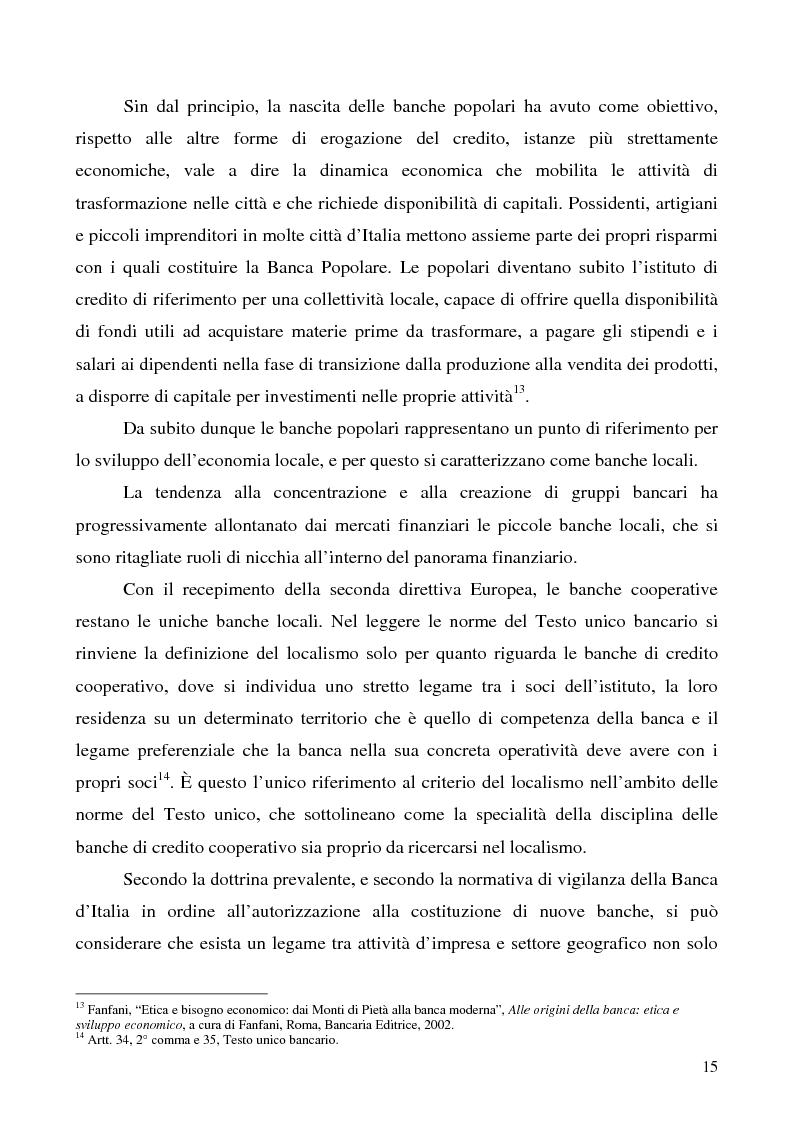 Anteprima della tesi: Problemi e prospettive della disciplina delle banche popolari, Pagina 12