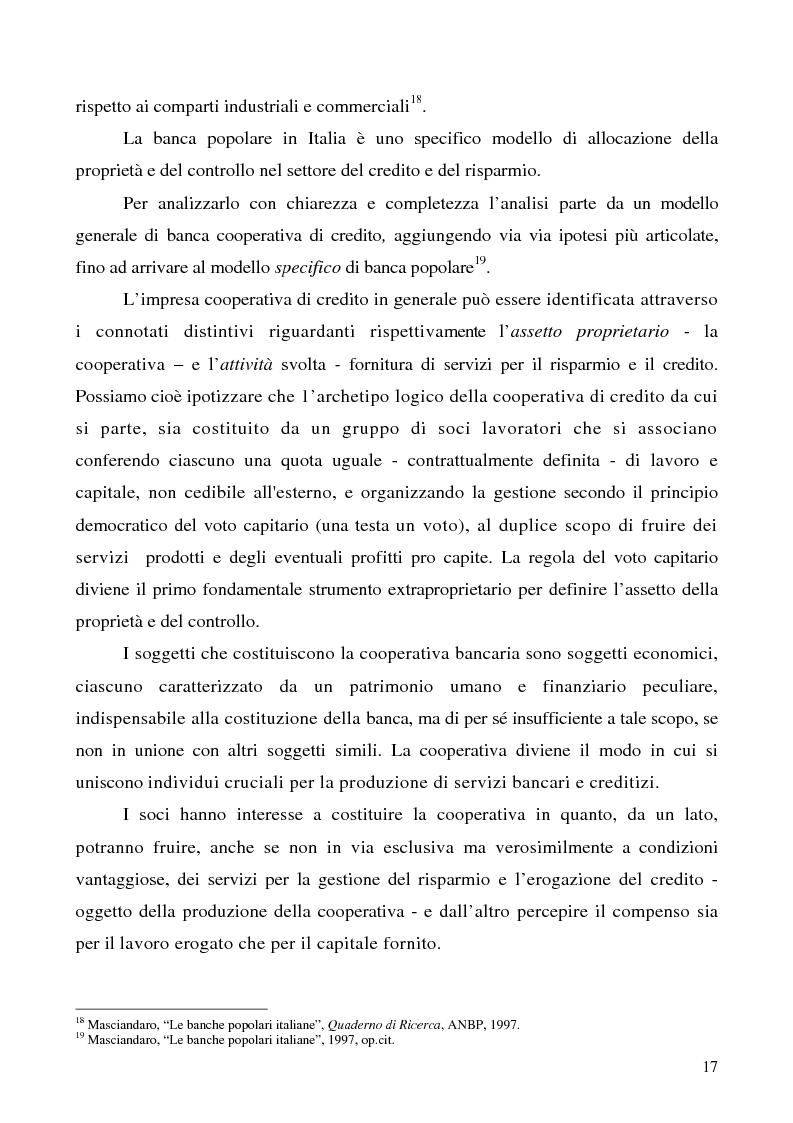 Anteprima della tesi: Problemi e prospettive della disciplina delle banche popolari, Pagina 14