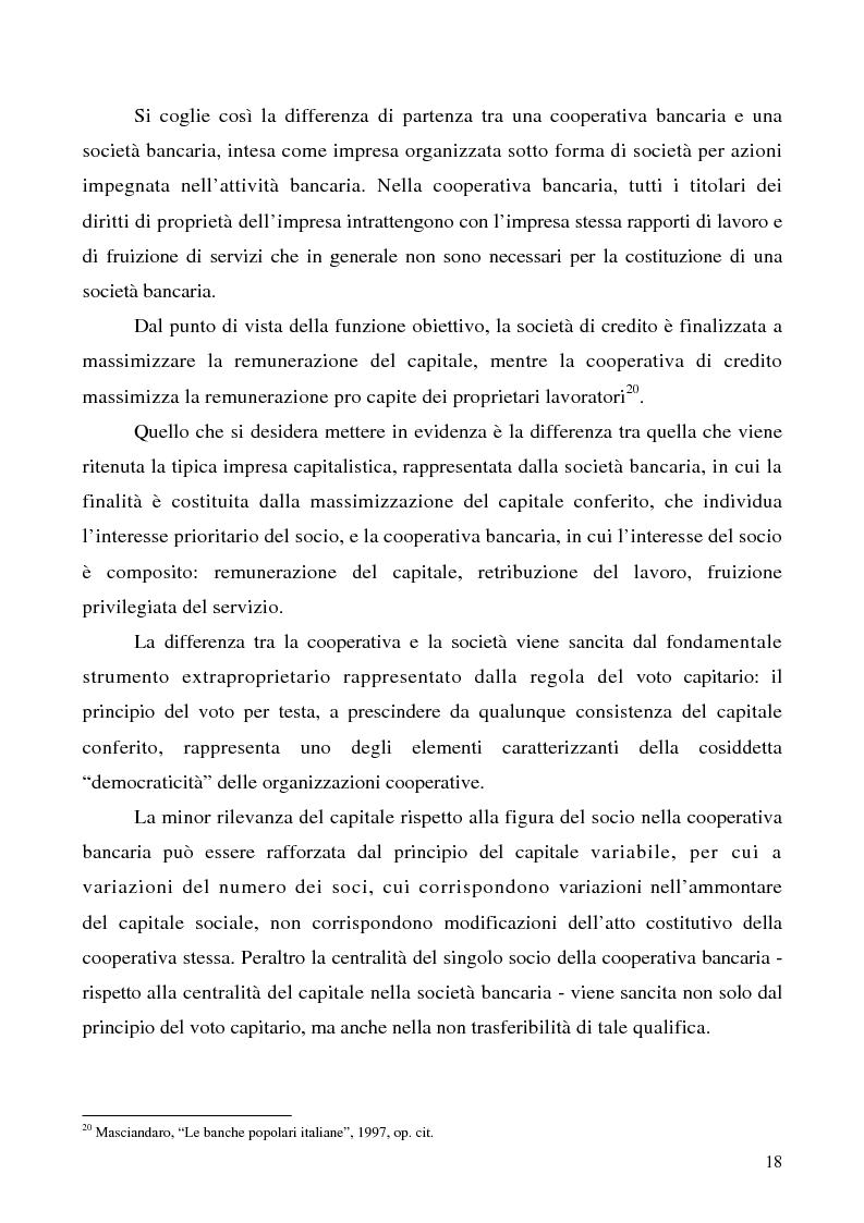 Anteprima della tesi: Problemi e prospettive della disciplina delle banche popolari, Pagina 15