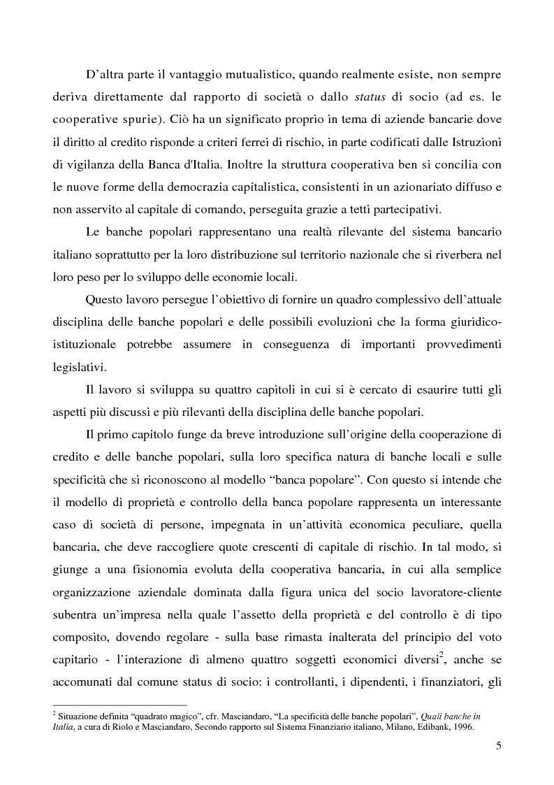 Anteprima della tesi: Problemi e prospettive della disciplina delle banche popolari, Pagina 2