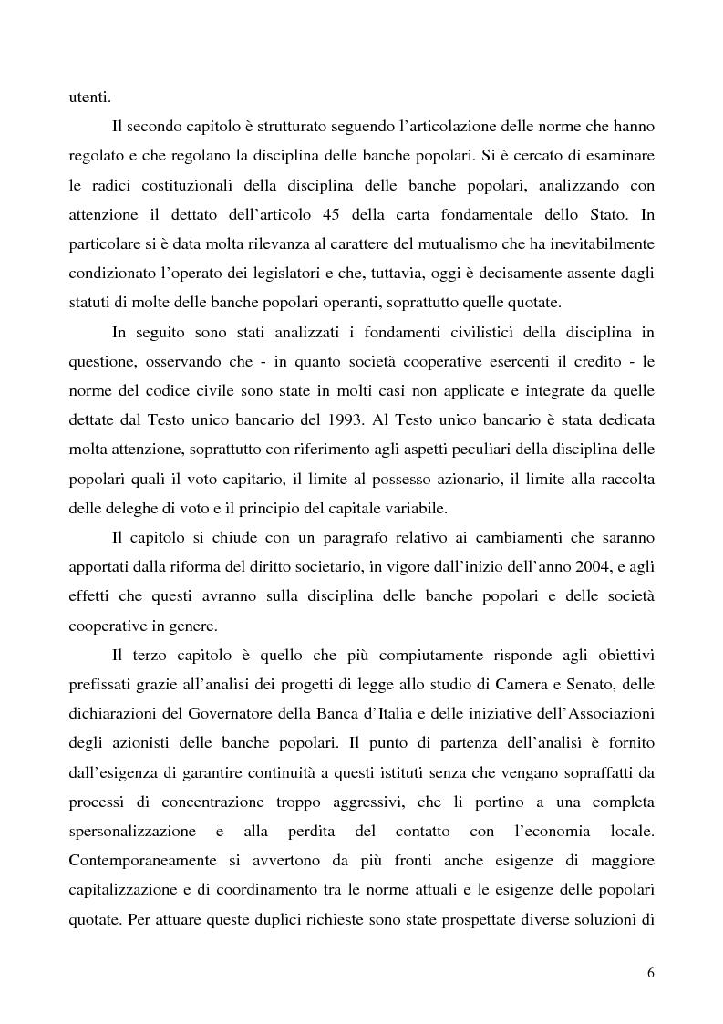 Anteprima della tesi: Problemi e prospettive della disciplina delle banche popolari, Pagina 3