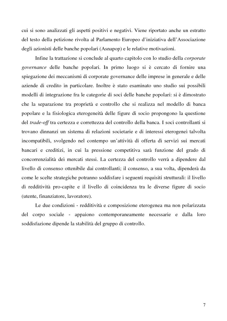 Anteprima della tesi: Problemi e prospettive della disciplina delle banche popolari, Pagina 4