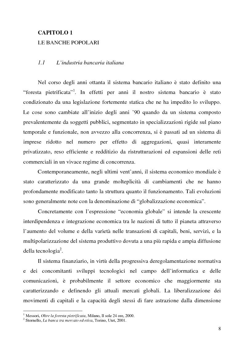 Anteprima della tesi: Problemi e prospettive della disciplina delle banche popolari, Pagina 5