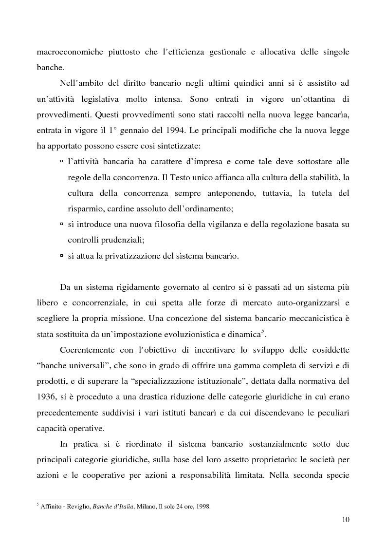 Anteprima della tesi: Problemi e prospettive della disciplina delle banche popolari, Pagina 7
