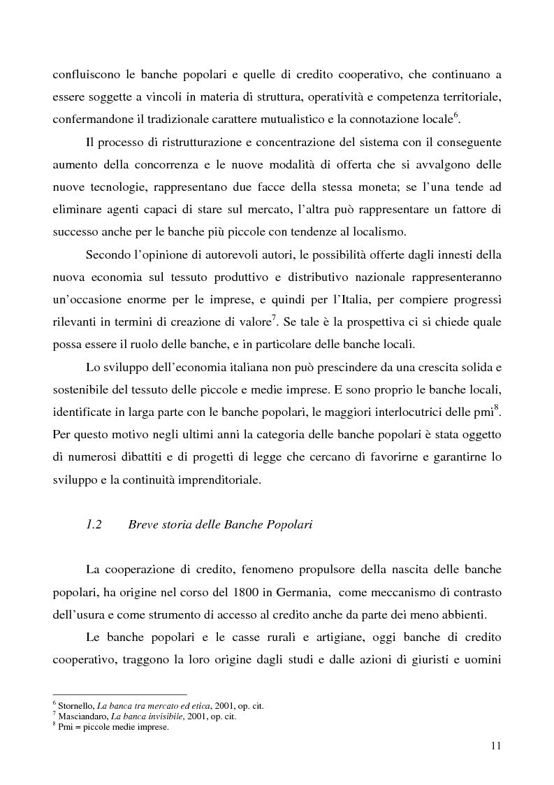 Anteprima della tesi: Problemi e prospettive della disciplina delle banche popolari, Pagina 8