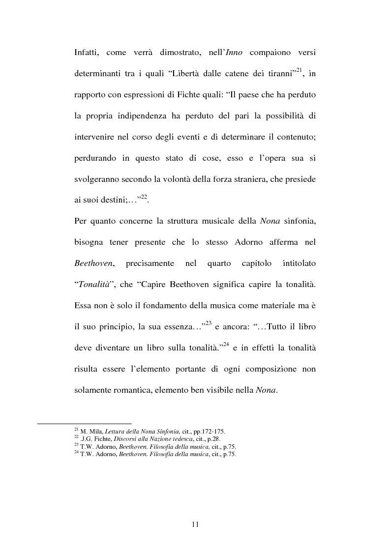 Anteprima della tesi: Il Beethoven di Adorno. Un confronto con il romanticismo, con Fichte ed Hegel, Pagina 9