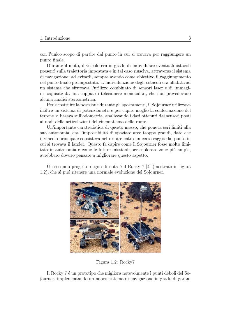 Anteprima della tesi: Visione artificiale stereometrica e navigazione autonoma di un veicolo per l'esplorazione spaziale, Pagina 3