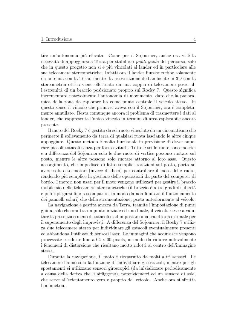 Anteprima della tesi: Visione artificiale stereometrica e navigazione autonoma di un veicolo per l'esplorazione spaziale, Pagina 4