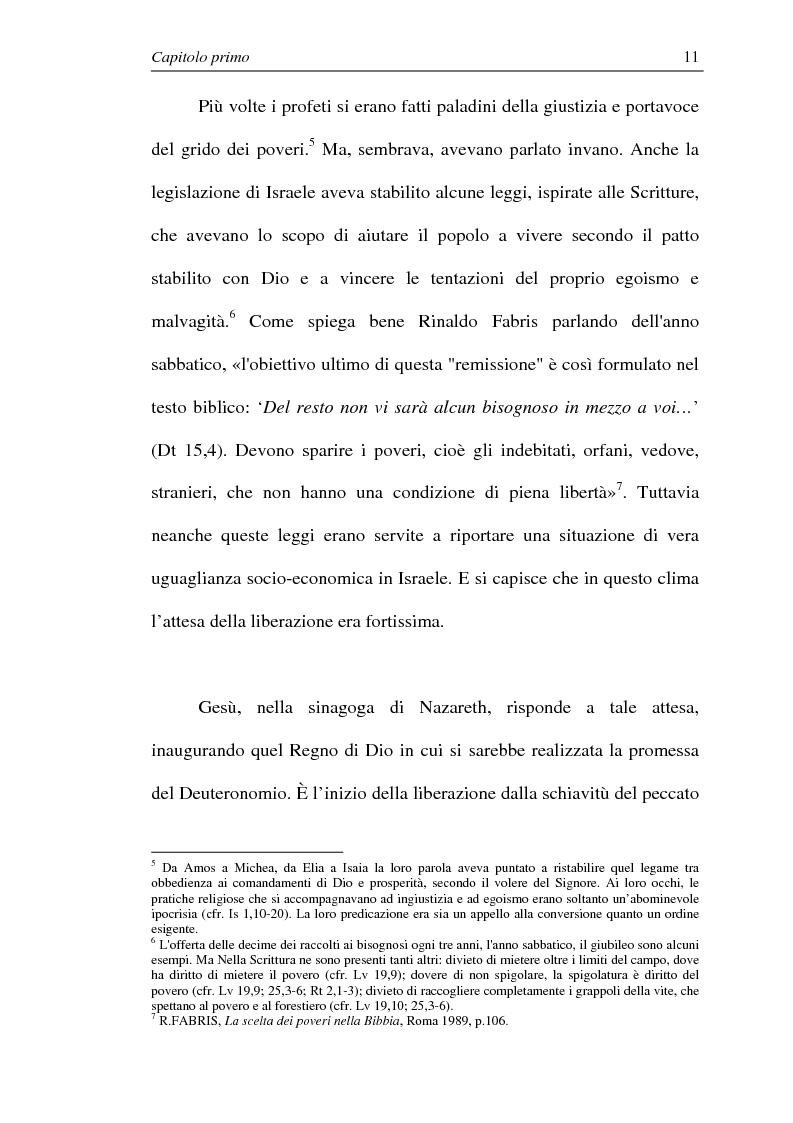 Anteprima della tesi: La comunione dei beni: dalla primitiva comunità cristiana al mercato economico e all'Economia di Comunione, Pagina 10