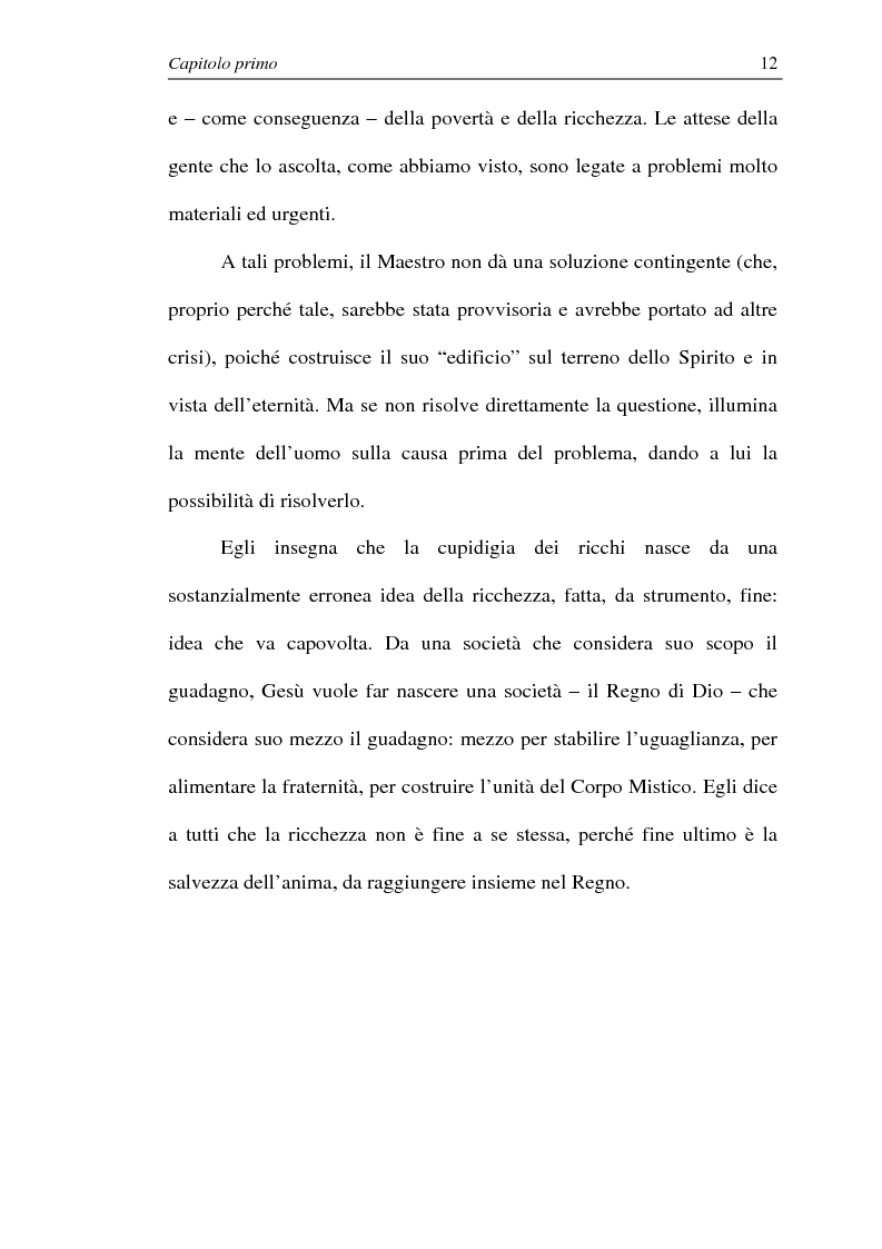 Anteprima della tesi: La comunione dei beni: dalla primitiva comunità cristiana al mercato economico e all'Economia di Comunione, Pagina 11