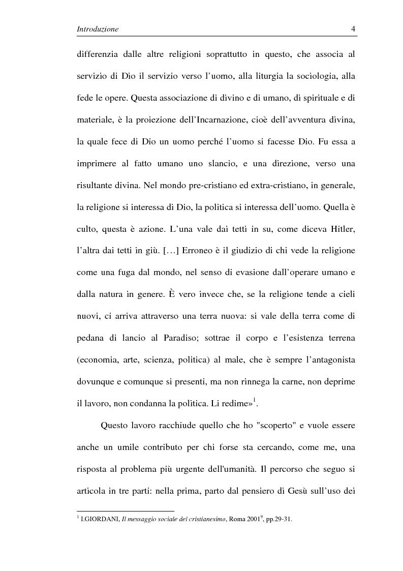 Anteprima della tesi: La comunione dei beni: dalla primitiva comunità cristiana al mercato economico e all'Economia di Comunione, Pagina 3
