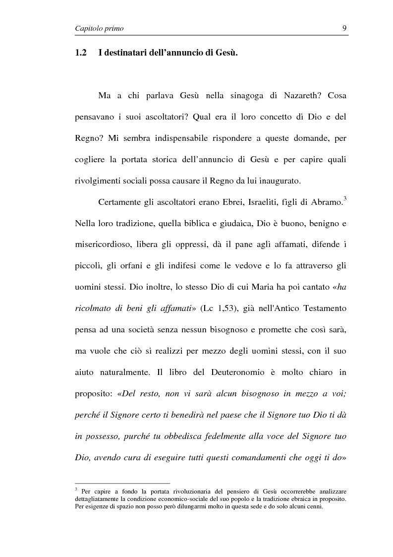 Anteprima della tesi: La comunione dei beni: dalla primitiva comunità cristiana al mercato economico e all'Economia di Comunione, Pagina 8