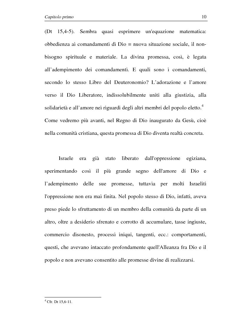 Anteprima della tesi: La comunione dei beni: dalla primitiva comunità cristiana al mercato economico e all'Economia di Comunione, Pagina 9