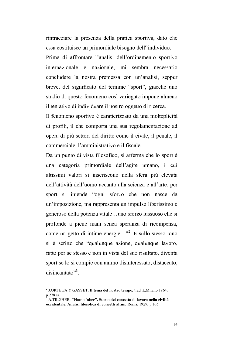 Anteprima della tesi: Per un ritorno a una nuova autonomia dell'ordinamento sportivo, Pagina 11