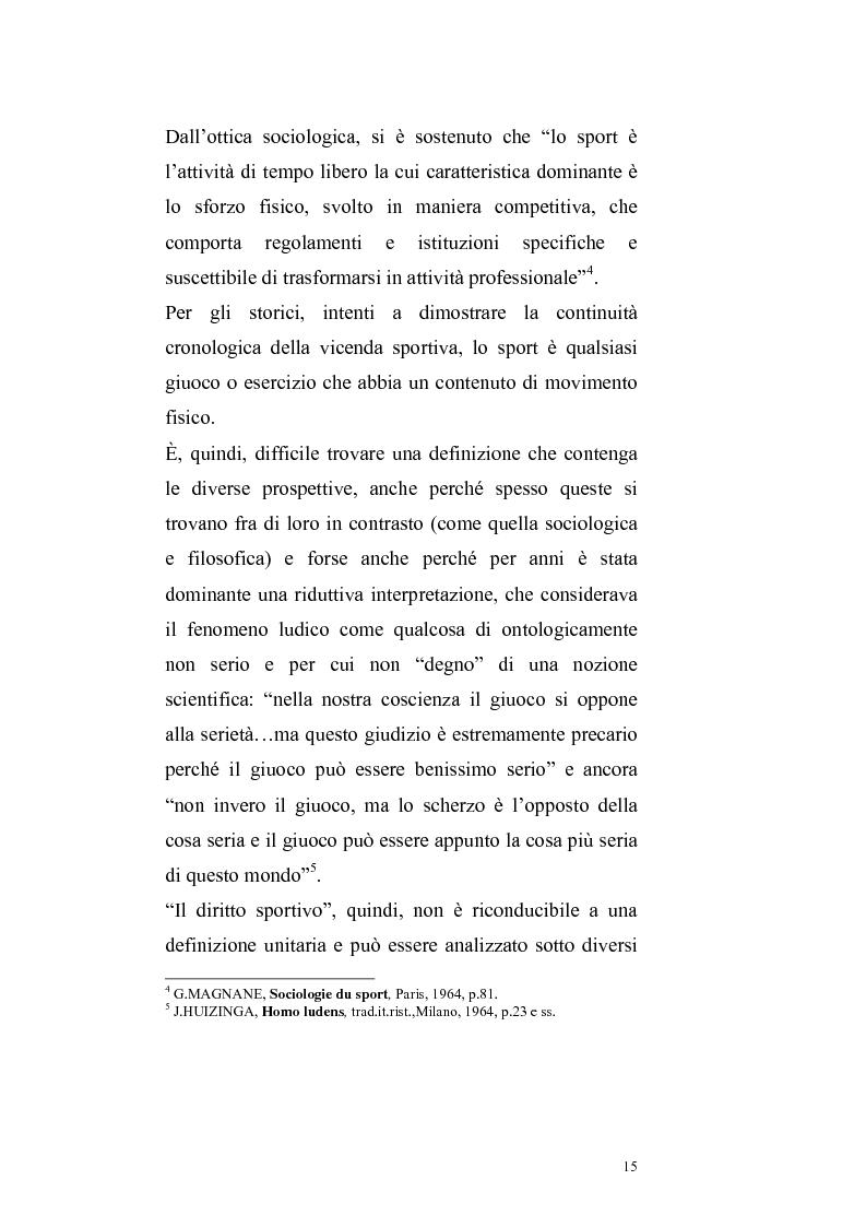 Anteprima della tesi: Per un ritorno a una nuova autonomia dell'ordinamento sportivo, Pagina 12