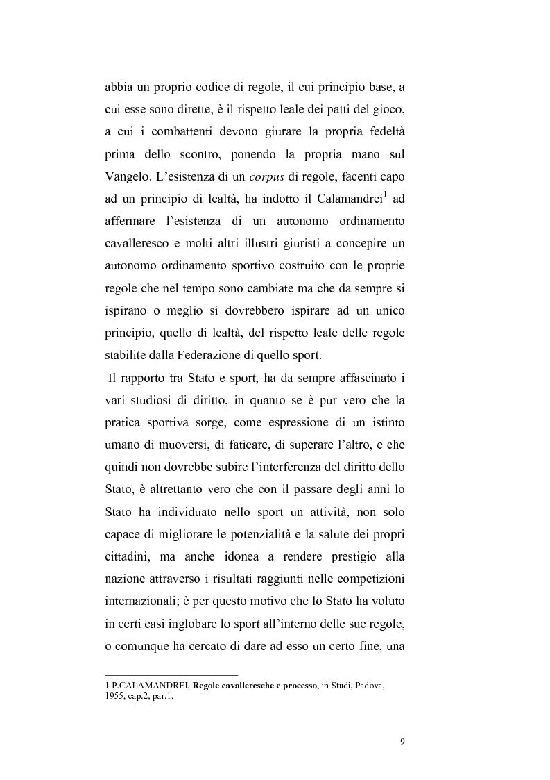 Anteprima della tesi: Per un ritorno a una nuova autonomia dell'ordinamento sportivo, Pagina 6
