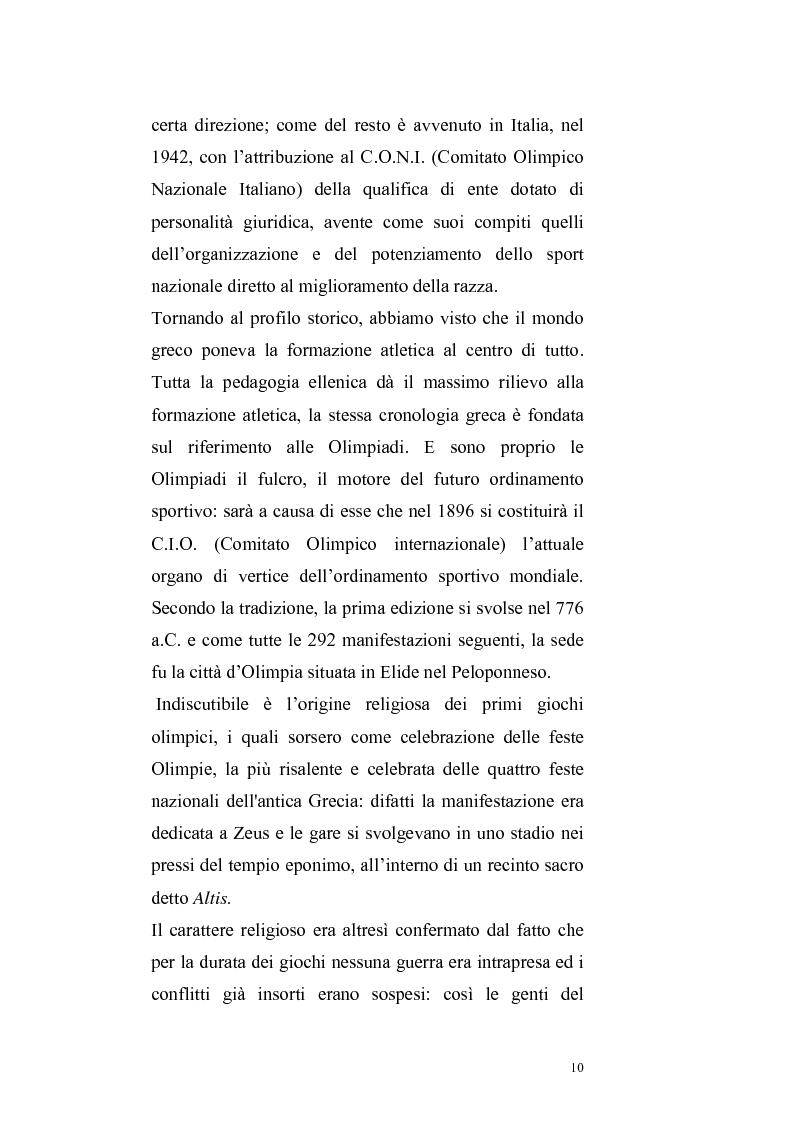 Anteprima della tesi: Per un ritorno a una nuova autonomia dell'ordinamento sportivo, Pagina 7