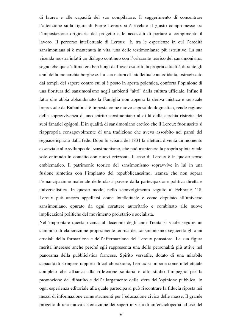 Anteprima della tesi: Dal sansimonismo al socialismo: l'itinerario intellettuale di Pierre Leroux durante la Monarchia di Luglio, Pagina 2
