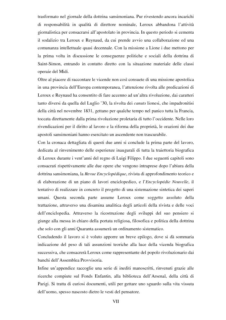 Anteprima della tesi: Dal sansimonismo al socialismo: l'itinerario intellettuale di Pierre Leroux durante la Monarchia di Luglio, Pagina 4