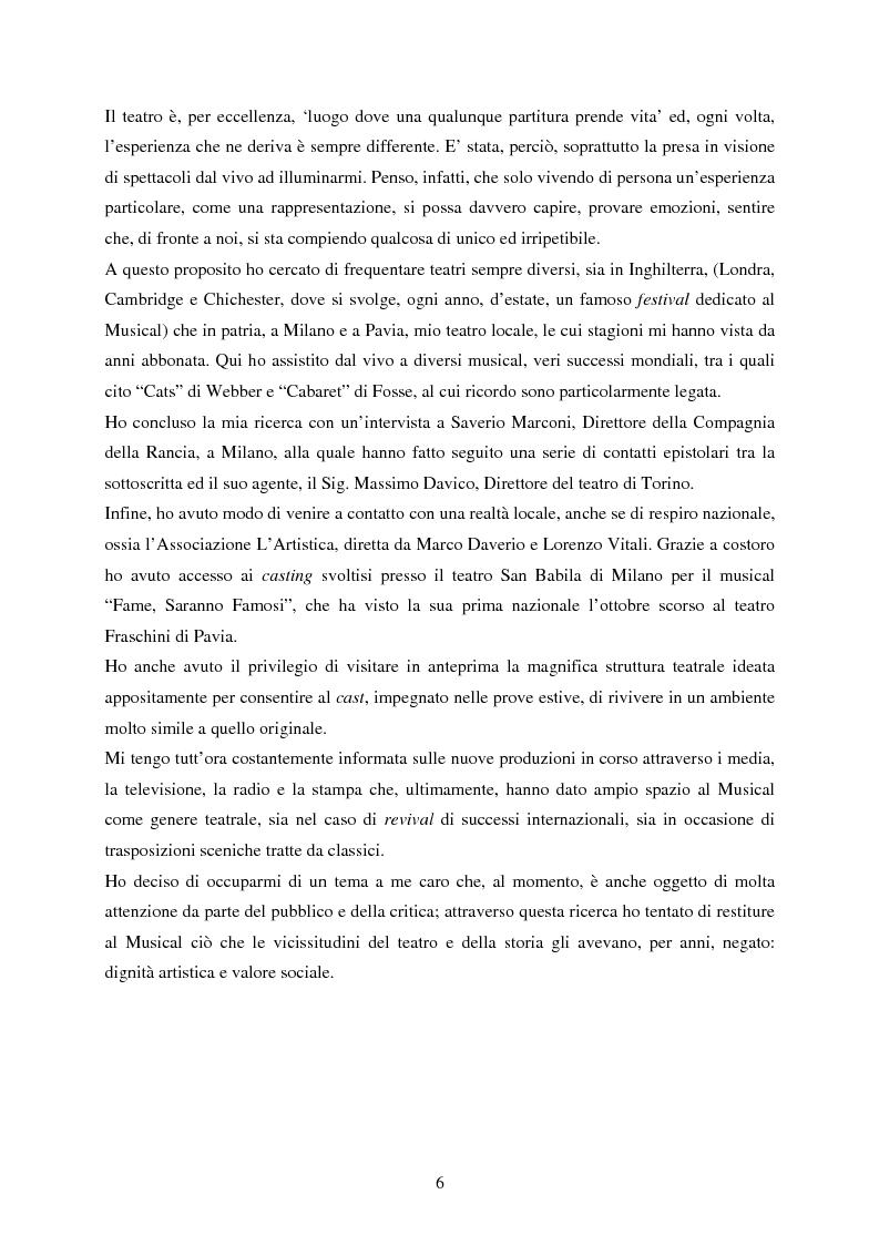 Anteprima della tesi: Forme e strutture del musical: il caso anglo-americano e quello italiano, Pagina 2