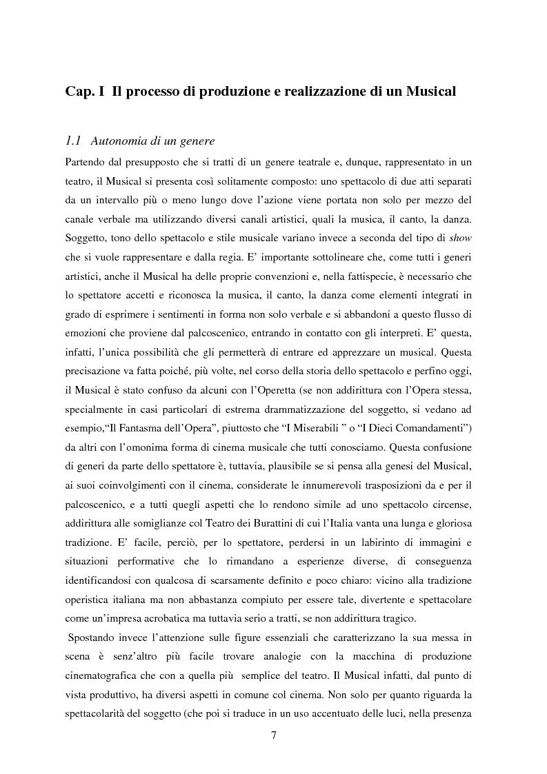 Anteprima della tesi: Forme e strutture del musical: il caso anglo-americano e quello italiano, Pagina 3