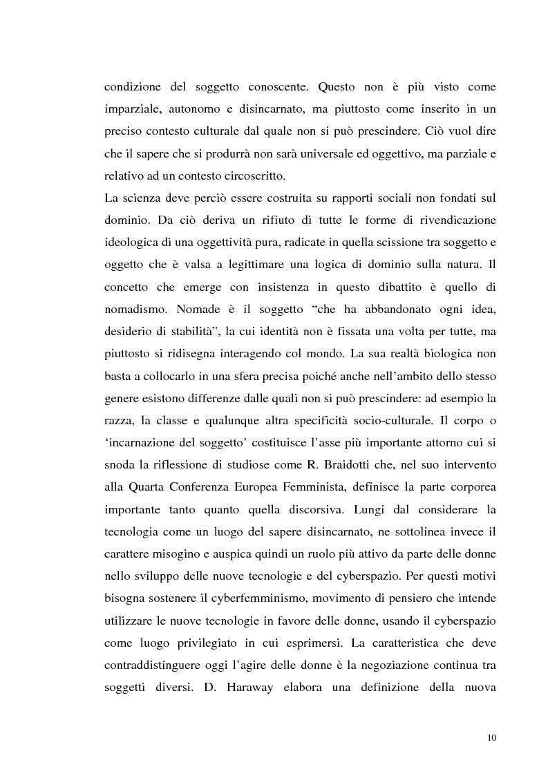 Anteprima della tesi: La tecnologia al femminile. Uno sguardo antropologico sui nuovi scenari tecnologici, Pagina 7