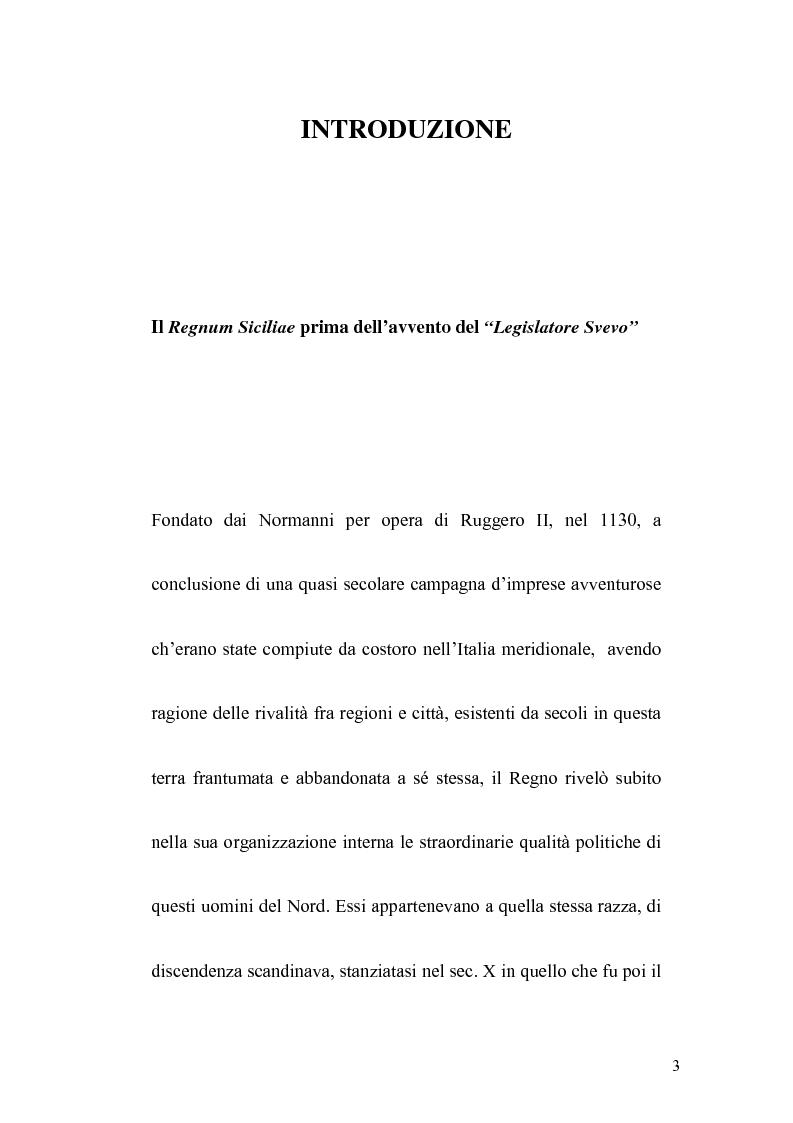 Anteprima della tesi: La politica legislativa di Federico II, Pagina 1