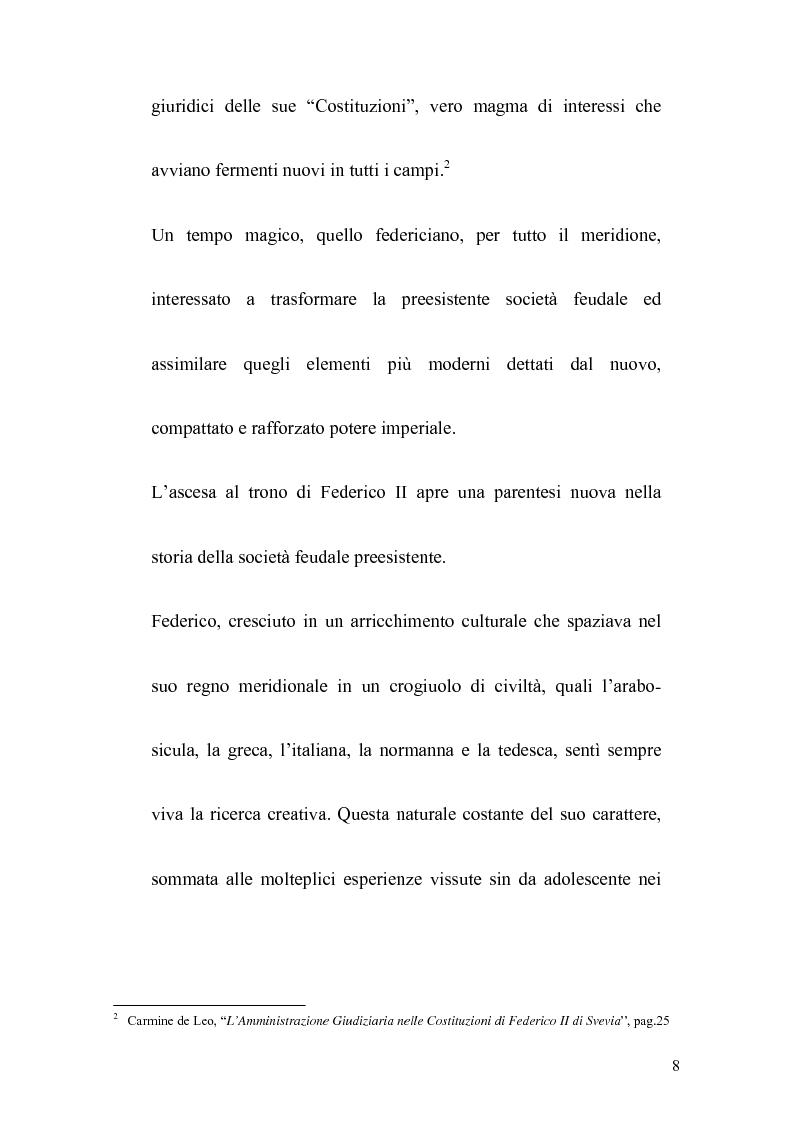 Anteprima della tesi: La politica legislativa di Federico II, Pagina 6