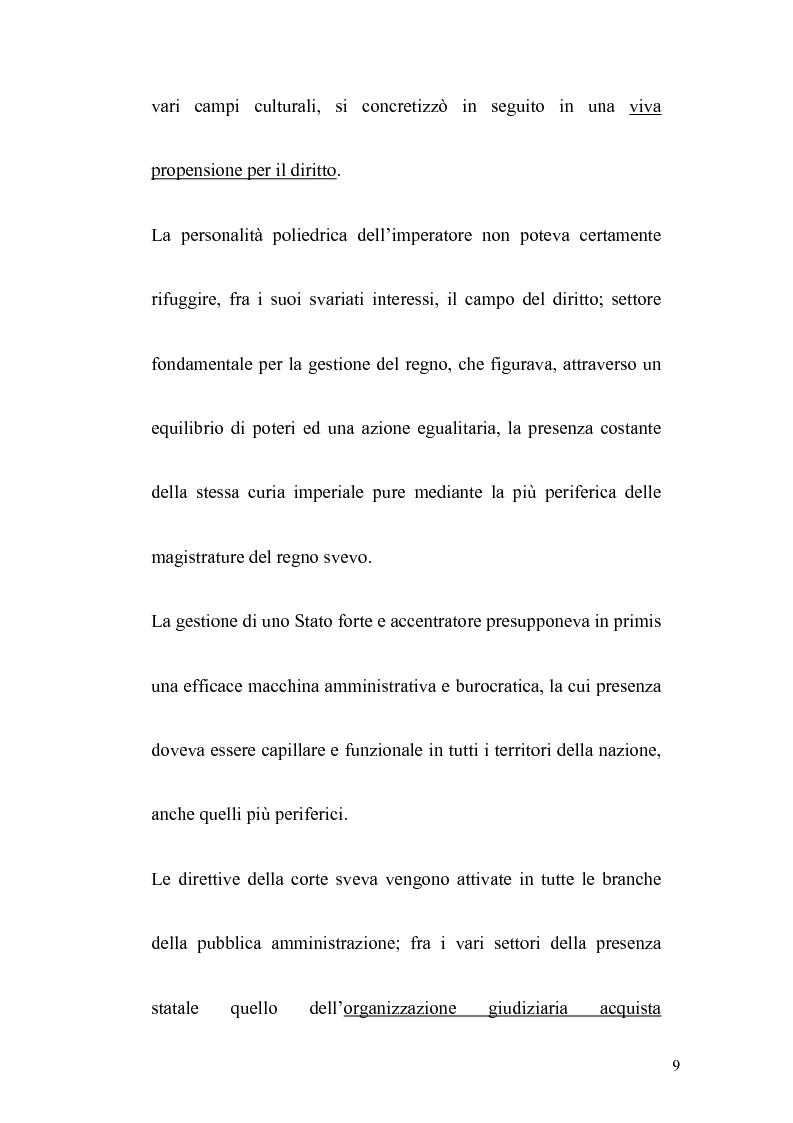 Anteprima della tesi: La politica legislativa di Federico II, Pagina 7