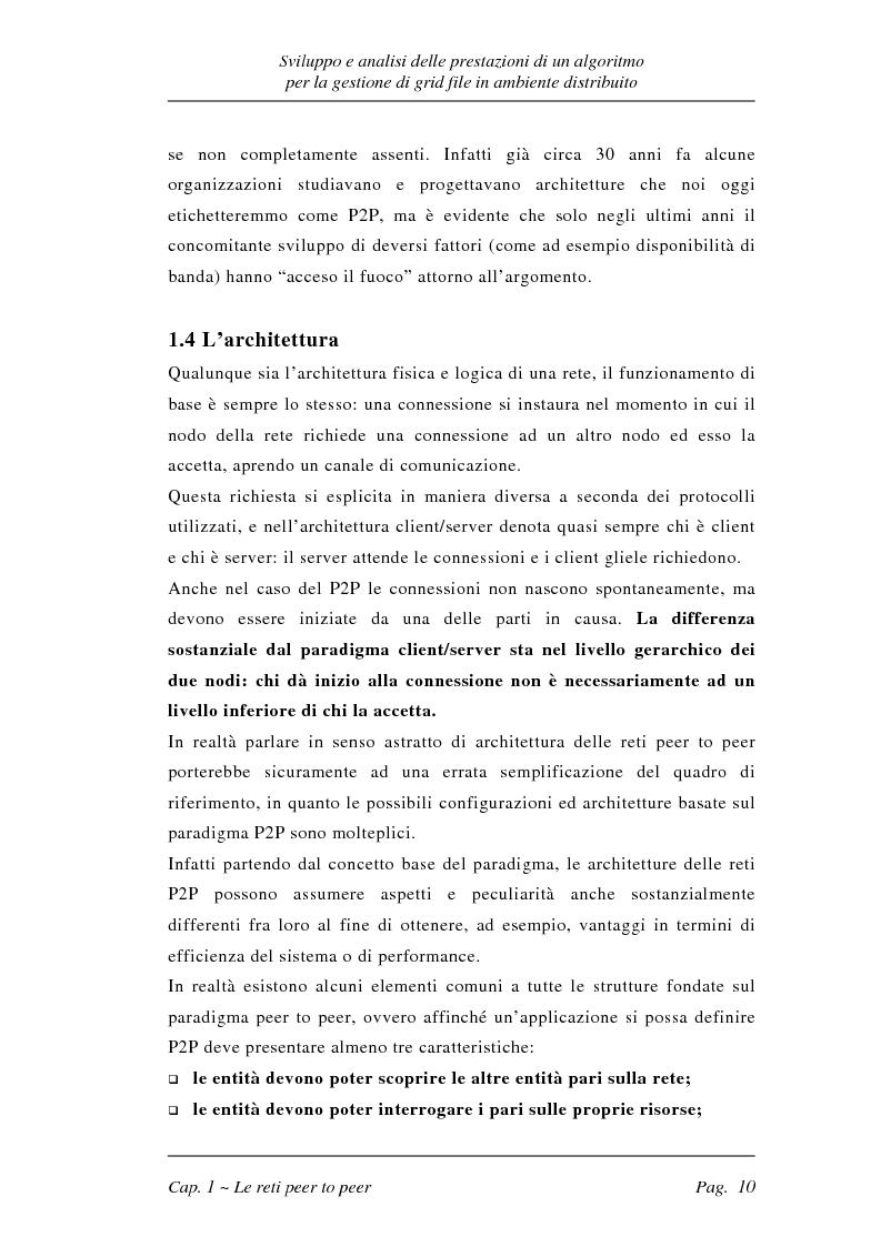 Anteprima della tesi: Sviluppo e analisi delle prestazioni di un algoritmo per la gestione di grid file distribuiti, Pagina 10