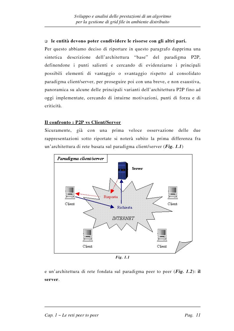 Anteprima della tesi: Sviluppo e analisi delle prestazioni di un algoritmo per la gestione di grid file distribuiti, Pagina 11
